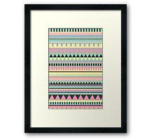 Bright Aztec Pattern Framed Print