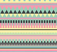 Bright Aztec Pattern by hannahison