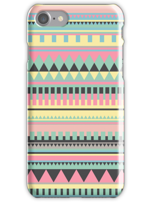 Bright Aztec Pattern by hannahison