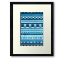 Blue Aztec Pattern Framed Print