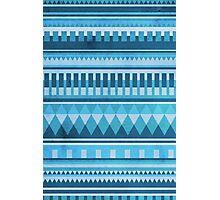Blue Aztec Pattern Photographic Print