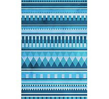 Blue Aztec Pattern Photographic Print