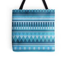 Blue Aztec Pattern Tote Bag