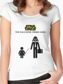 Star Dads - The Daughter Strikes Back Women's Fitted Scoop T-Shirt
