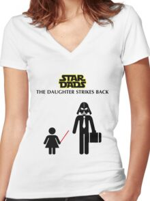 Star Dads - The Daughter Strikes Back Women's Fitted V-Neck T-Shirt