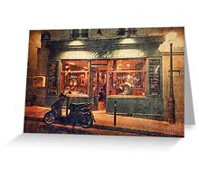 Paris Cafe at night Greeting Card