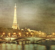 Eiffel tower at night by Janine Whitling