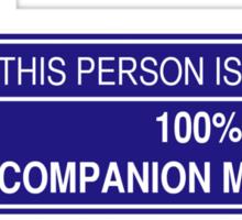 100% Companion Material (ver. 2) Sticker