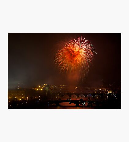 New Year's Fireworks Photographic Print