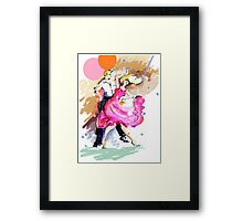 Party girl and dance Framed Print