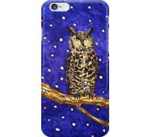 Hand drawn owl at night iPhone Case/Skin