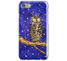 Hand drawn owl at night iPhone Case/Skin