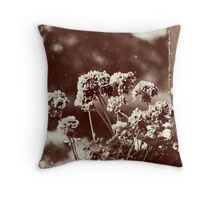 Rainy Morning Balcony Pastel Throw Pillow