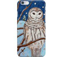 Hand drawn illustrative owl at night iPhone Case/Skin