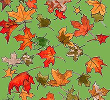 Hand drawn fall leaves by CClaesonDesign
