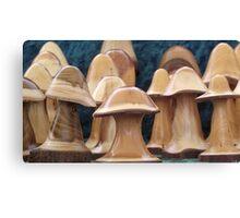 Little Wooden Mushroom Canvas Print