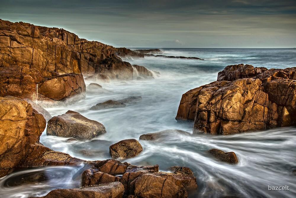 Wet Red Rocks by bazcelt