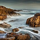 Wet Red Rocks by bazcelt