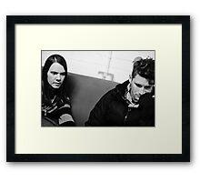 Ronnie Winter & John Hartman - Red Jumpsuit Apparatus Framed Print