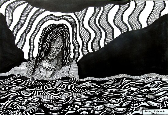 242 - STREAM OF CONSCIOUSNESS - DAVE EDWARDS - INK - 2013 by BLYTHART