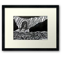 242 - STREAM OF CONSCIOUSNESS - DAVE EDWARDS - INK - 2013 Framed Print
