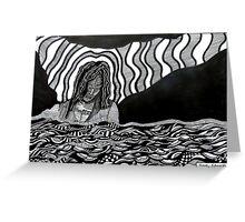 242 - STREAM OF CONSCIOUSNESS - DAVE EDWARDS - INK - 2013 Greeting Card