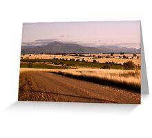 Nandewar Range from east of Bellata Greeting Card
