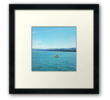 Boats at Zurich Framed Print