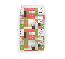 Modern hand draw colorful abstract seamless pattern  Duvet Cover