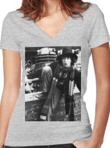 Tom Baker Women's Fitted V-Neck T-Shirt