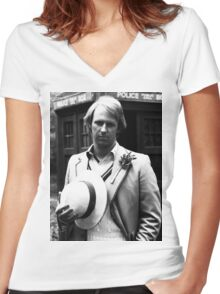 Peter Davison Women's Fitted V-Neck T-Shirt