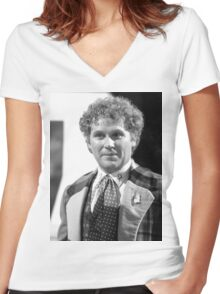 Colin Baker Women's Fitted V-Neck T-Shirt