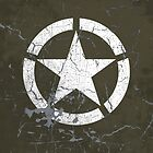 Vintage Look US Army White Star Emblem by VintageSpirit