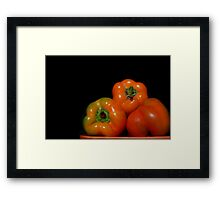 Peter's Perfect Peppers Framed Print