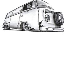 Penciled Bay Window Slammed style VW by jay007