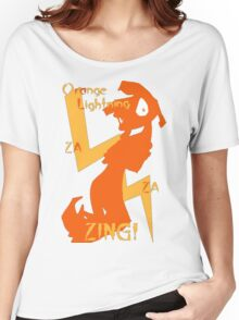 Orange Lightning Women's Relaxed Fit T-Shirt