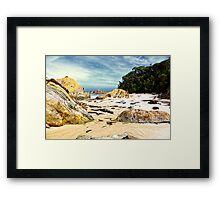 Keeping it quiet at Secret Beach  Framed Print