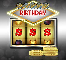 Birthday Greeting Card Casino Theme With Slots And Coins by Moonlake