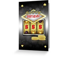 Birthday Greeting Card Casino Theme With Slots And Coins Greeting Card