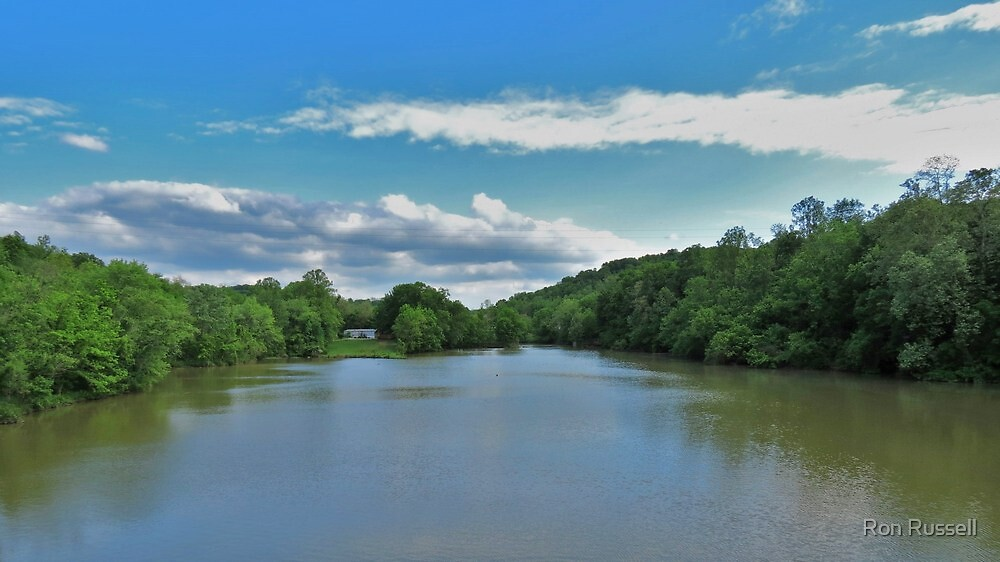 A View Up Snag Creek by Ron Russell