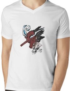 TenguFuma Mens V-Neck T-Shirt