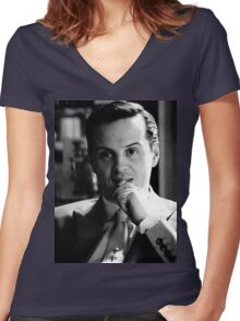Moriarty 1 Women's Fitted V-Neck T-Shirt