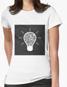 House a bulb Womens Fitted T-Shirt