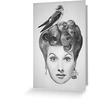 Lucille Bird Ball  Greeting Card