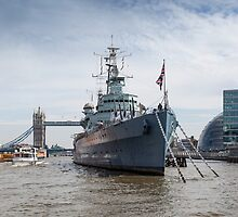 HMS Belfast by David Tinsley