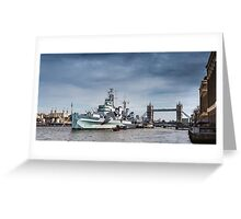 The Boat, Bridge & Tower Greeting Card