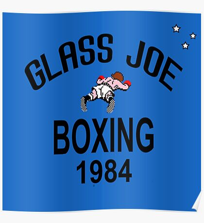 Punch-Out!!! Glass Joe Boxing Poster