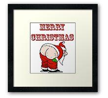 Santa's Butt, Merry Christmas Framed Print