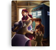 Doctor Who and Red Riding Hood (Prints, Cards and Posters) Canvas Print