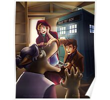 Doctor Who and Red Riding Hood (Prints, Cards and Posters) Poster